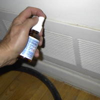 Spray Colloidal Silver on Air Filters