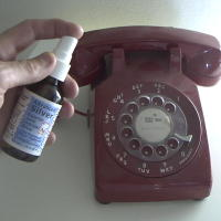 Spray Colloidal Silver on Home Telephone