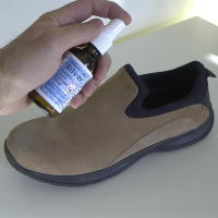 Spray Colloidal Silver in Shoes